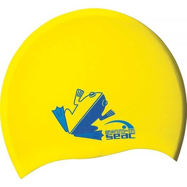Шапка за плуване, за деца (жълта)