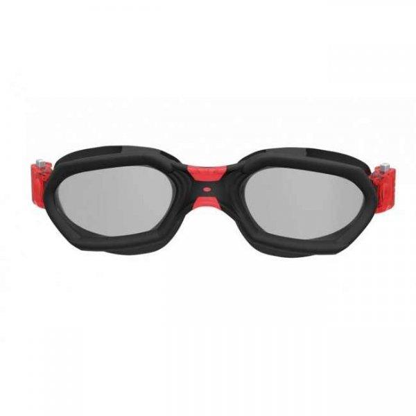 Очила за плуване AQUATECH, черно с червено
