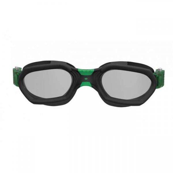 Очила за плуване AQUATECH, черно със зелено