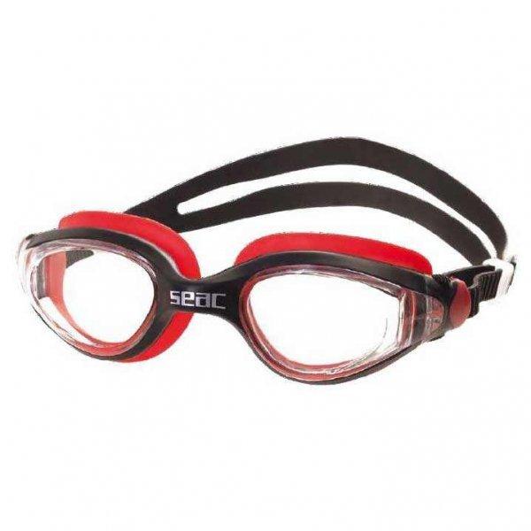 Очила за плуване Ritmo, черно с червено