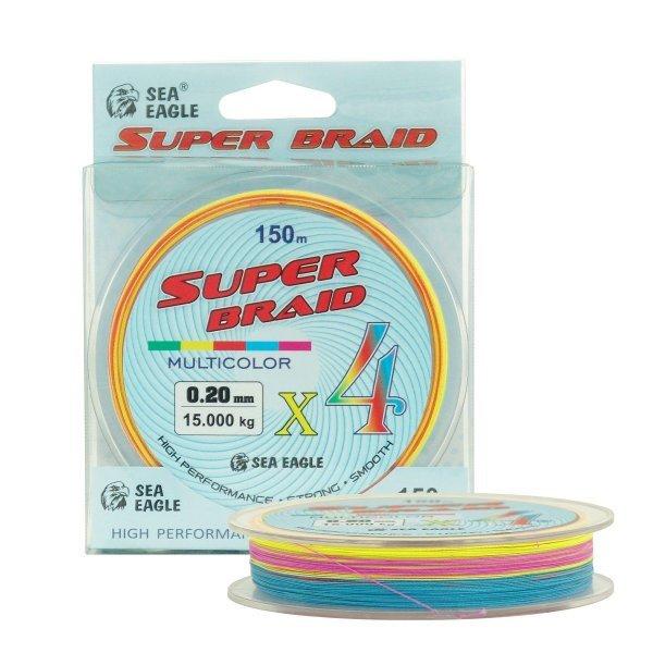 Плетено влакно Super Braid X4, мултиколор, 150м