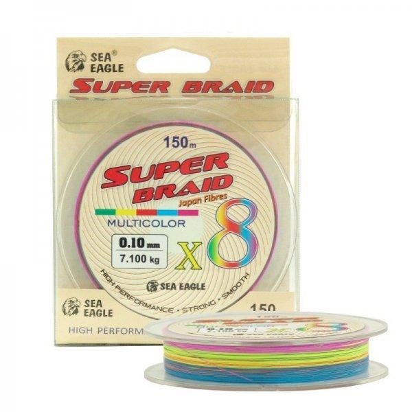 Плетено влакно Super Braid X8, мултиколор, 150м