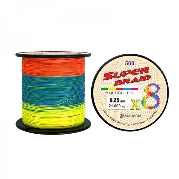 Плетено влакно Super Braid X8, мултиколор, 500м