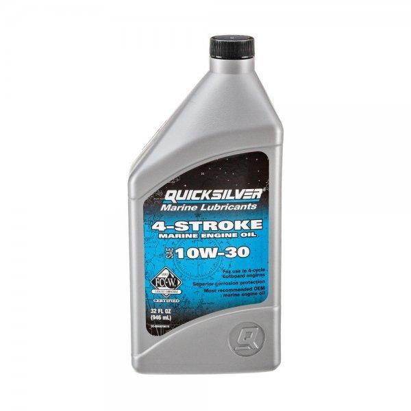 Масло за четиритактов извънбордов двигател Quicksilver Premium 4 – Stroke Engine Oil SAE 10W-30 1л