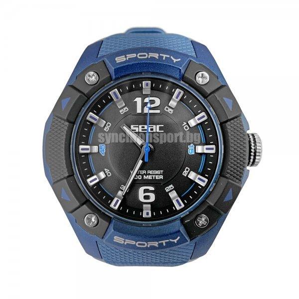 Спортен водоустойчив часовник SPORTY, син