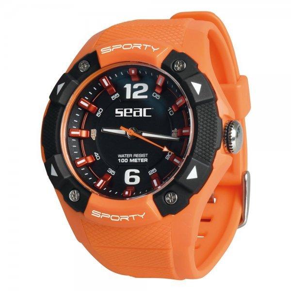 Спортен водоустойчив часовник SPORTY, оранжев