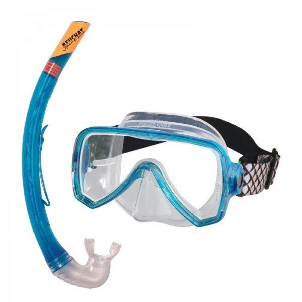 Комплект OCEO: маска с шнорхел (сини)